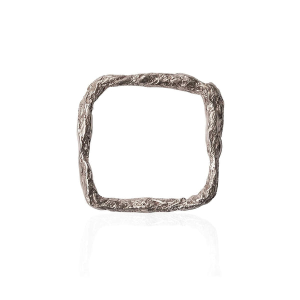 Sterling Silver Square ring - Illusion collection
