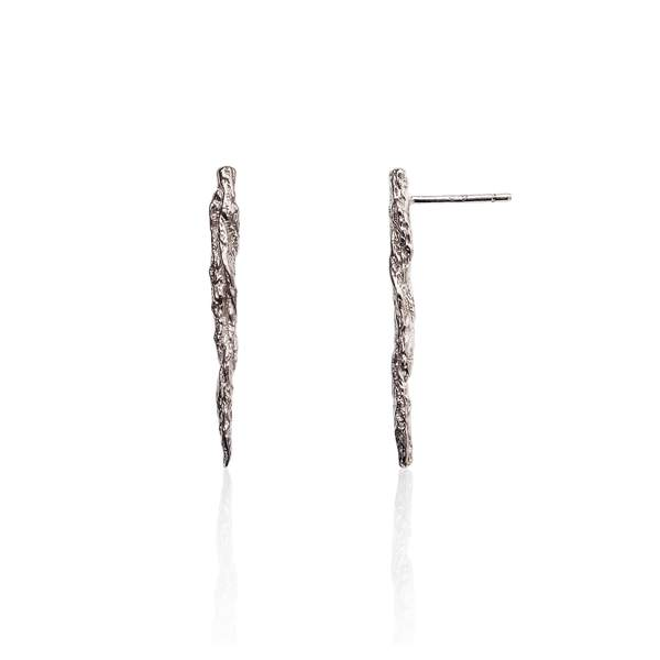 Silver Illusion Stick Studs earrings by Niza Huang from the Illusion collection available at cuemars.com