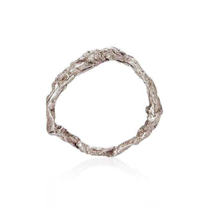 Niza huang sterling silver raw handcrafted ring