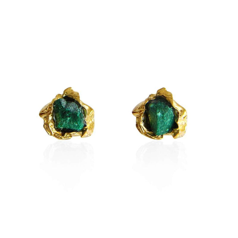 niza-huang-small_malachite-studs-22ct-gold-plated-silver-crush-collection-cuemars