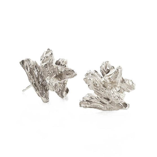 Sterling Silver Irregular Stud earrings by Niza Huang from the Under Earth collection available at cuemars.com