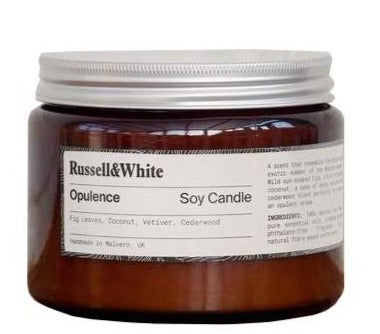 Opulence Large Soy Wax Candle by Russell and White available at Cuemars