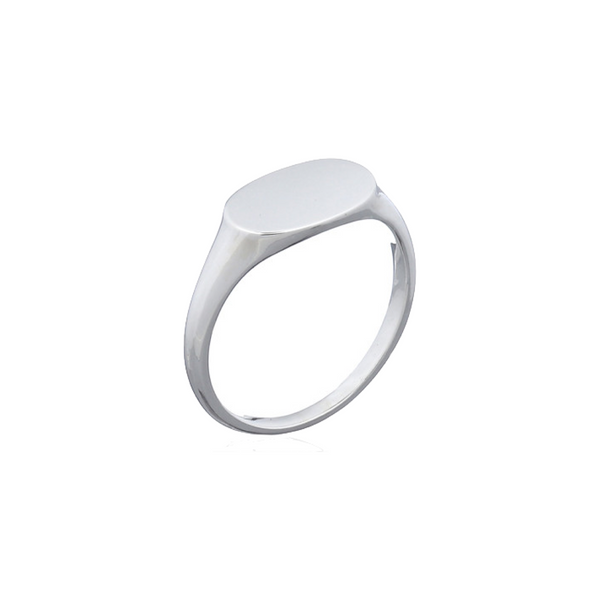 Oval Signet Silver Ring
