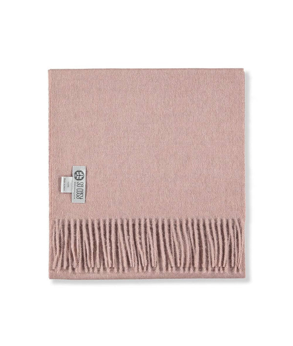 picture of handmade super soft baby alpaca shawl by so cosy in pale pink available online and at the store