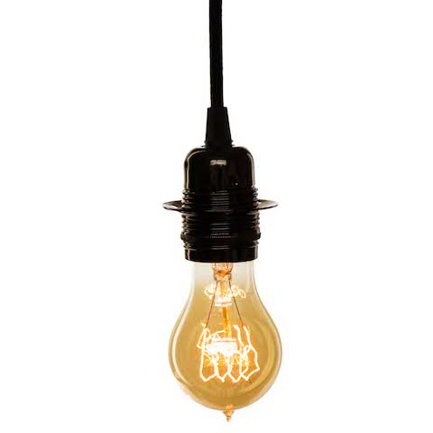 Vintage Light Bulb - Pear