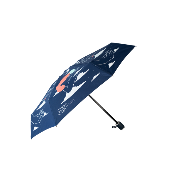 product picture of Universal Blue by French brand Beau Nuage, an umbrella made out of recycled plastic bottles aimed to protect our environment as well as keeping us dry from the rain