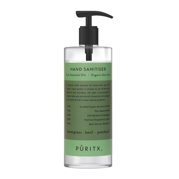 Natural and organic hand sanitiser by UK brand Puritx available at Cuemars