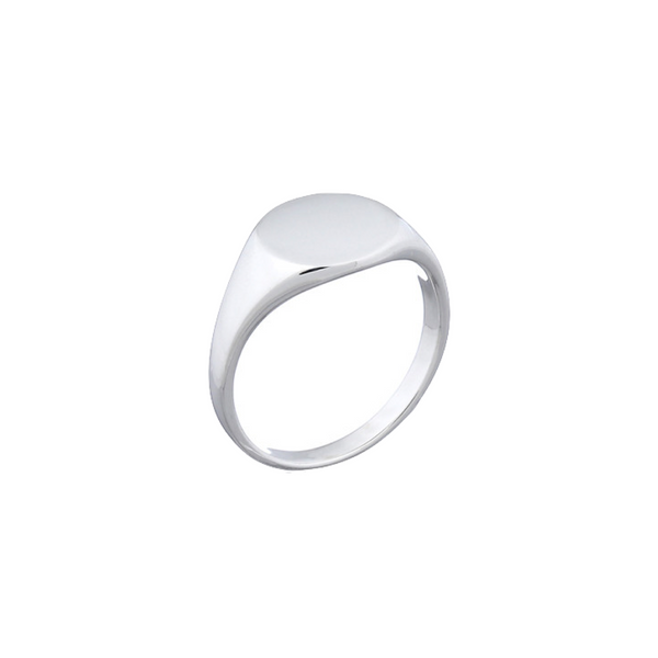 Eliza Silver Signet Ring | Keep it Peachy | Discover now at Cuemars