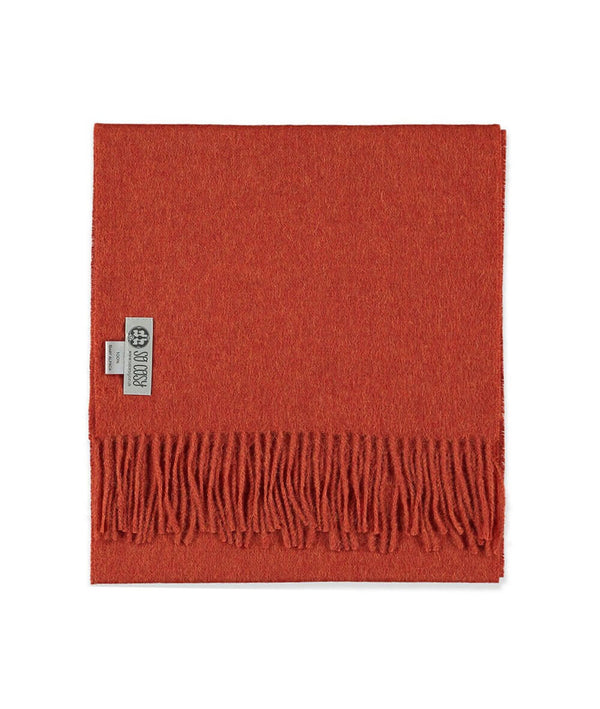 Baby Alpaca Scarf in Deep Orange by So Cosy London | Discover now at Cuemars