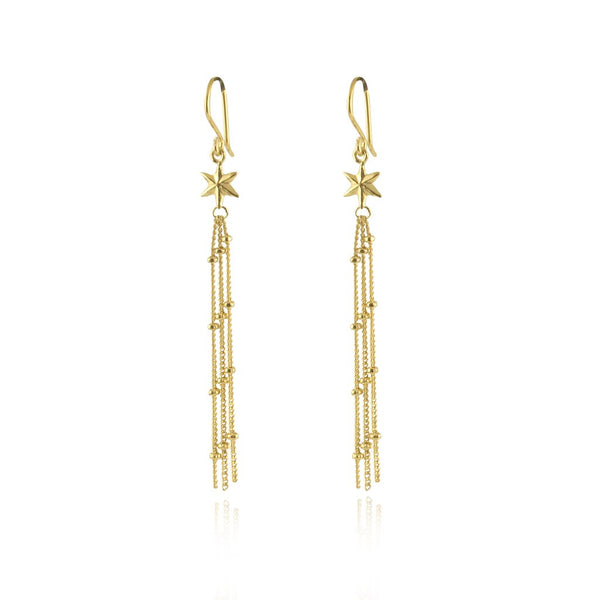 22ct gold plated Silver Shooting Stars earrings by Momocreatura
