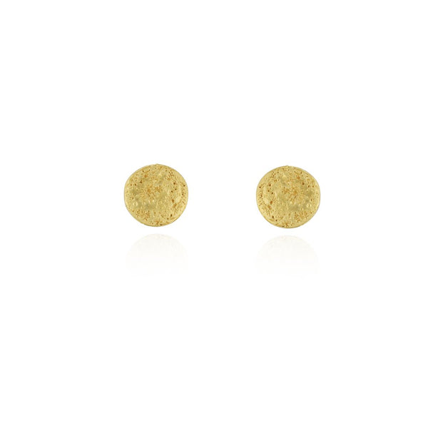 22ct gold plated Silver Small Full Moon earrings by Momocreatura