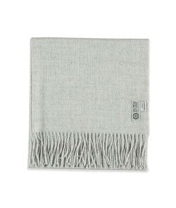 picture of handmade super soft baby alpaca shawl by so cosy in light grey available online and at the store