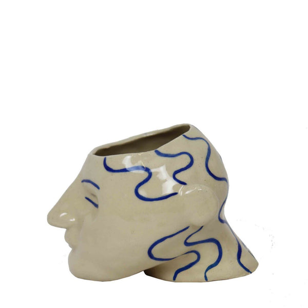 product picture of handmade head pottery planter by Sophie Alda for Cuemars