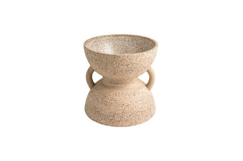 Sand timer geometric ceramic planter or bowl
