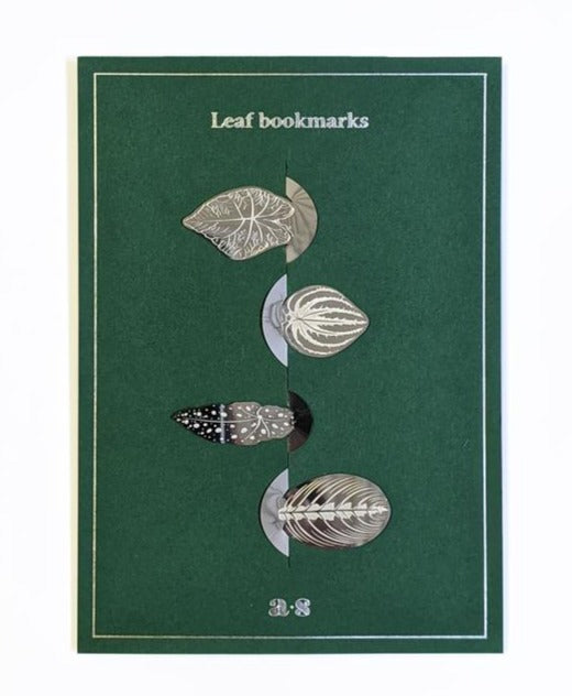 Picture of Another Studio Stainless Steel Leaves Bookmarks available to purchase at cuemars.com