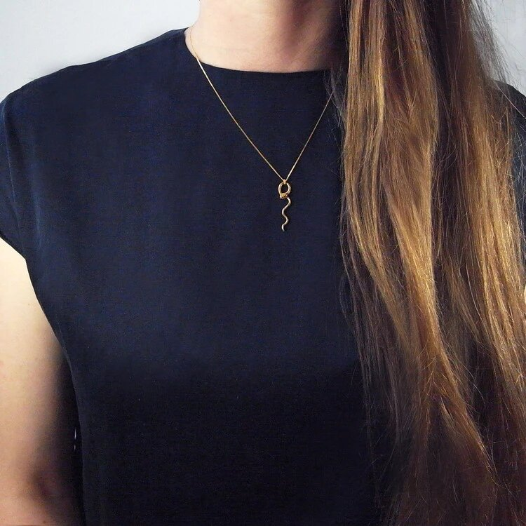 handmade gold plated necklace by momocreatura