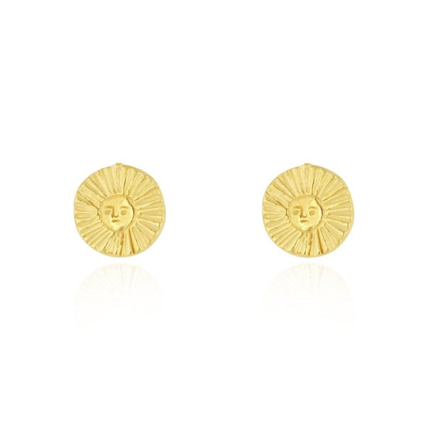 23ct gold plated Silver Sun earrings by Momocreatura