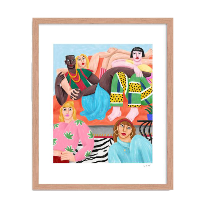 "Picture of ""The Coloc"", an Art Print made by French designer Cédric Pierre-Bez, also known as Cé Pé available at cuemars.com"