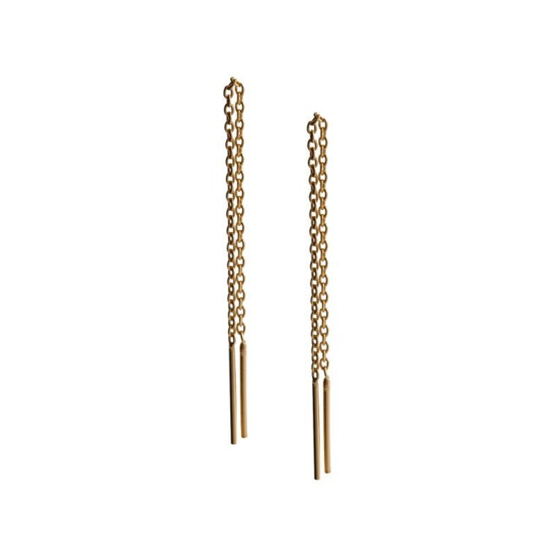 Fresh and minimalist threader earrings Aria by Keep it Peachy now online on Cuemars
