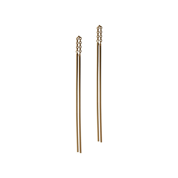 Fresh and minimalist gold drop earrings Lara by Keep it Peachy now online on Cuemars