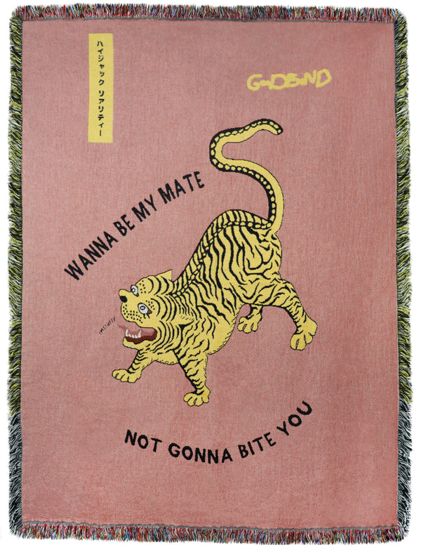Tiger Throw by Goodbond jacquard weave | Wanna be my mate?