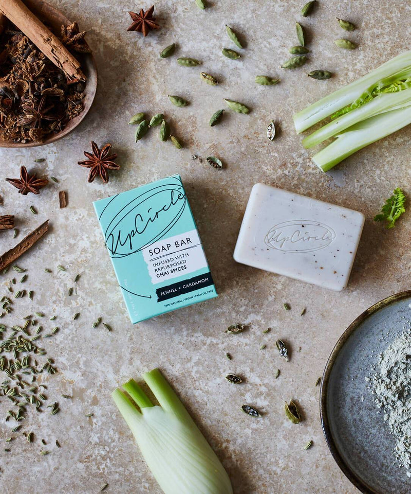 upcircle natural soap bar fennel seeds and chai spices