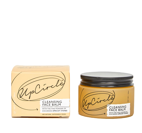 Natural and vegan cleansing balm made out of apricot stones by upcircle available now at cuemars