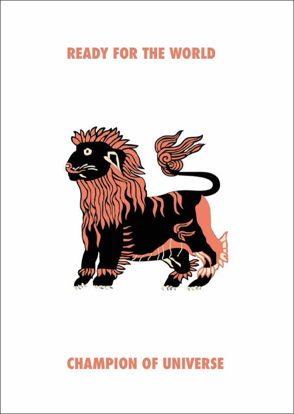 Picture of a Lion motivational print by digital illustration studio Goodbond available exclusively at Cuemars