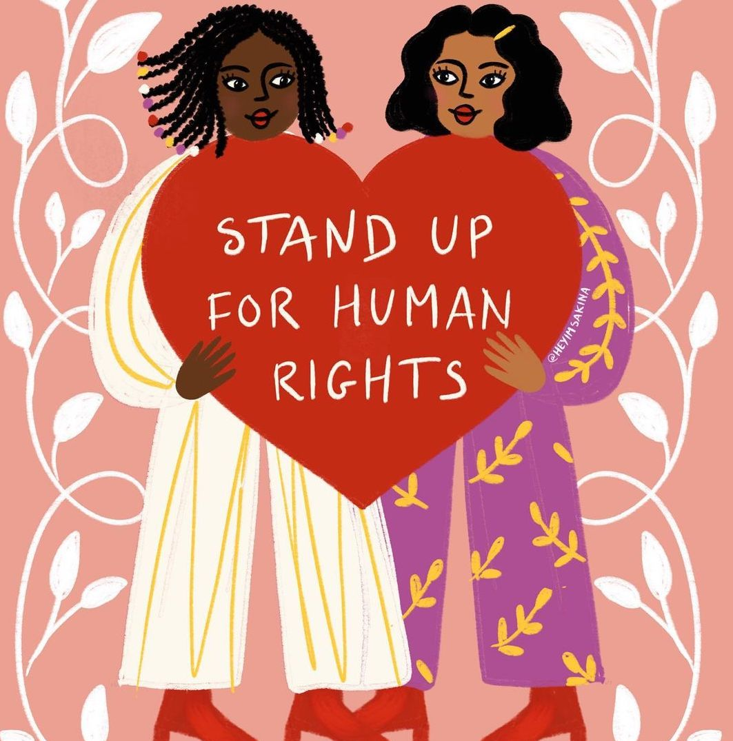 sakina saidi - illustration -STAND UP FOR HUMAN RIGHTS - cuemars