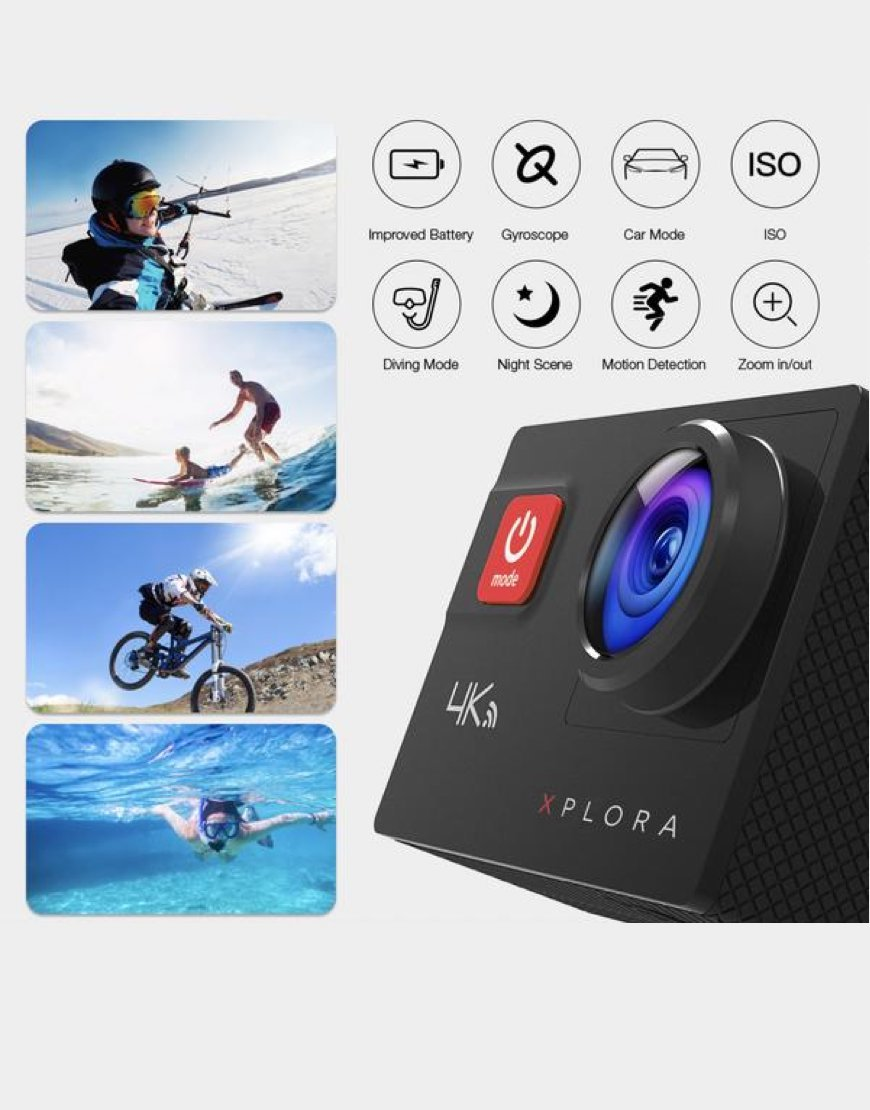 XPLORA Action Camera Features