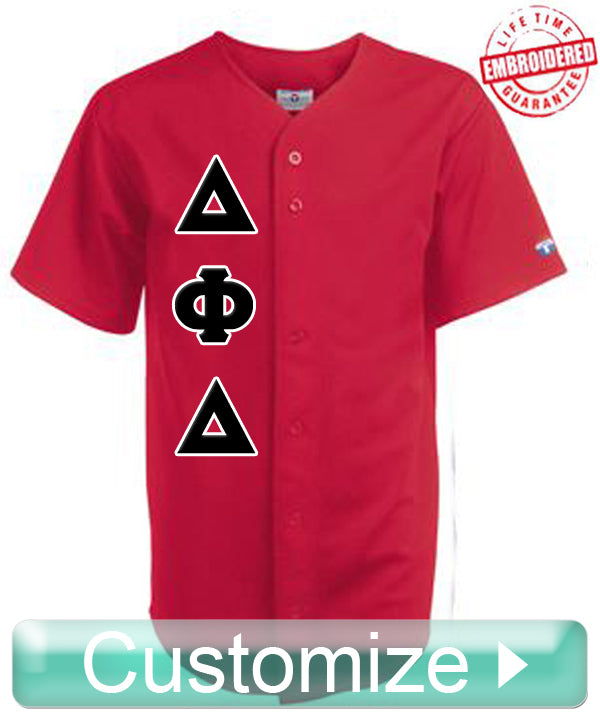 7bc5a9bc48c Custom Greek Full Button Pro-Weight Polyester Baseball Jersey TW-1221B ...