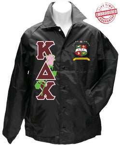 8e2d8fcd72 Kappa Delta Chi Crossing Jacket with Rose Embellished Greek Letters and  Crest