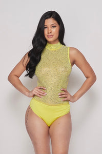Yellow Glam Bodysuit