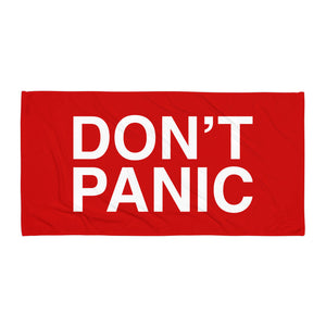 Don't Panic (Beach Towel)