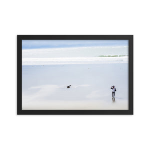 Long Walks on the Beach (Framed)