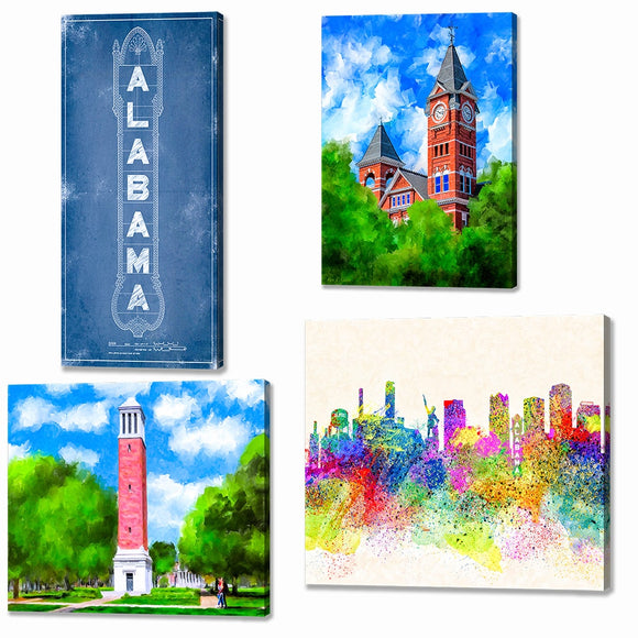 Alabama Canvas Prints - Alabama Canvas Wall Art