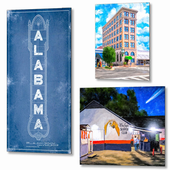 Alabama Metal Prints - Alabama Metal Wall Art