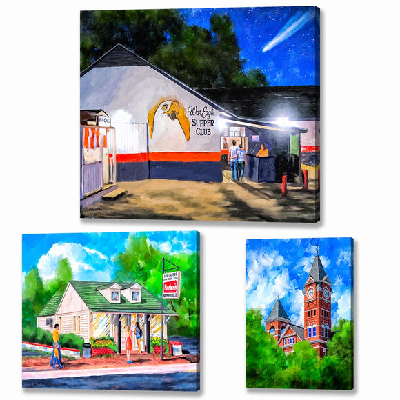 Auburn Canvas Prints
