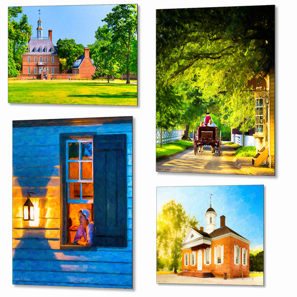 Colonial Williamsburg Metal Prints