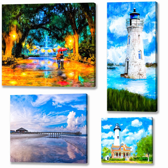 Georgia Coast Canvas Prints