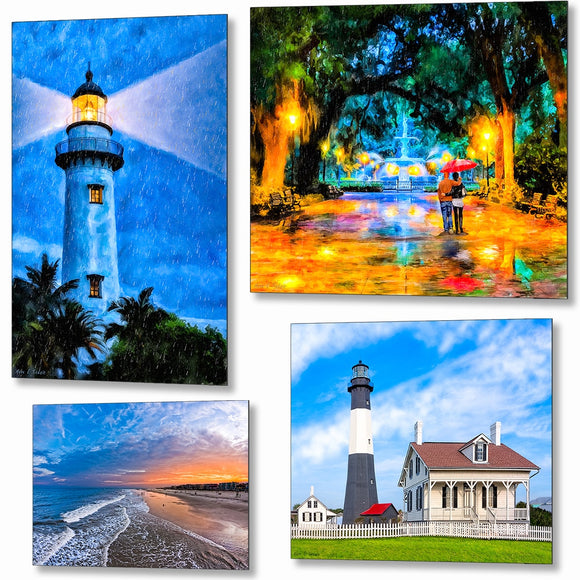 Georgia Coast Metal Prints