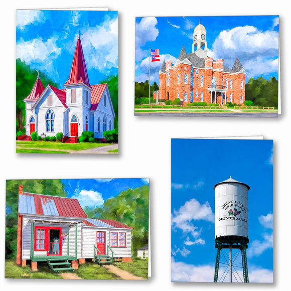 Macon County Georgia Greeting Cards