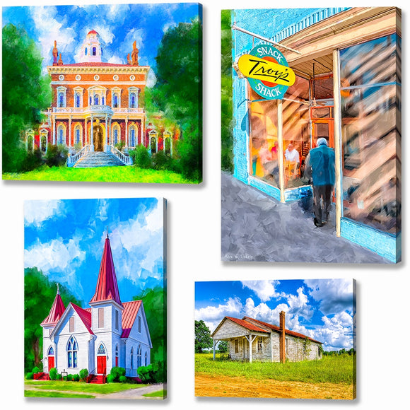 Middle And South Georgia Canvas Prints