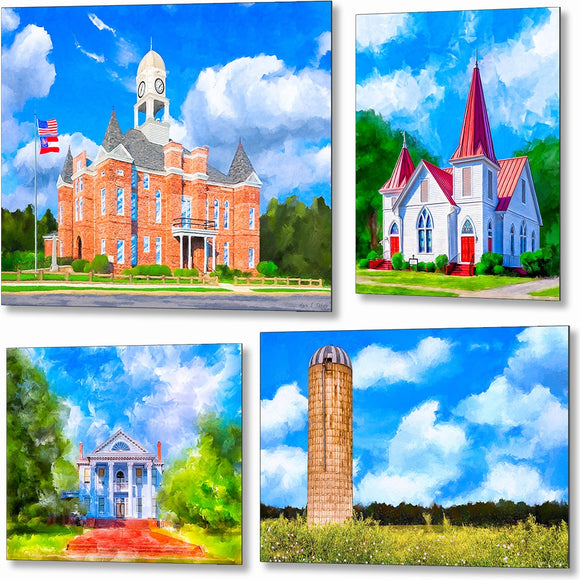 Middle And South Georgia Metal Prints