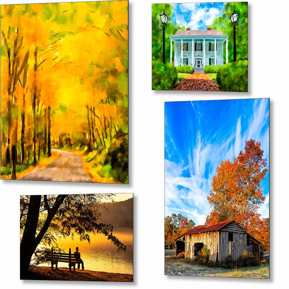 North Georgia Scenic Metal Prints