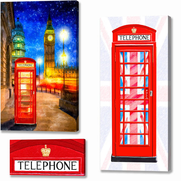 Red Telephone Box Canvas Prints