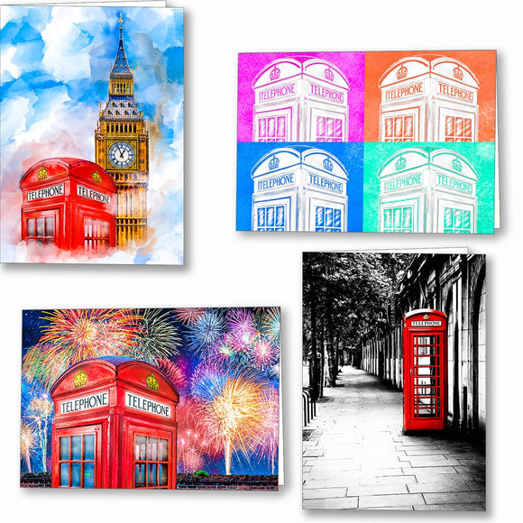 Red Telephone Box Greeting Cards