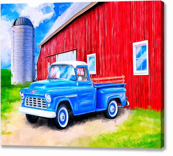 1955 Chevy Pickup - Classic Truck Canvas Print