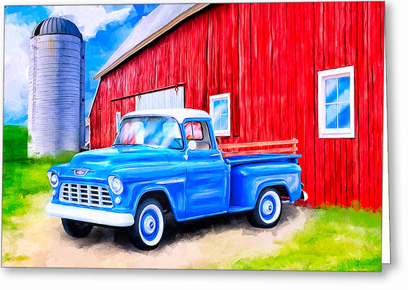 1955 Chevy Pickup - Classic Truck Greeting Card