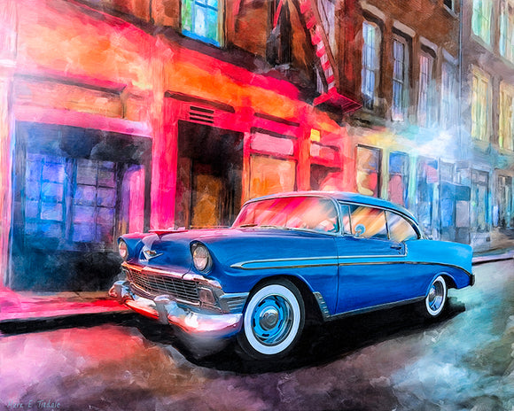 1956 Chevy Bel Air - Classic Car Art Print